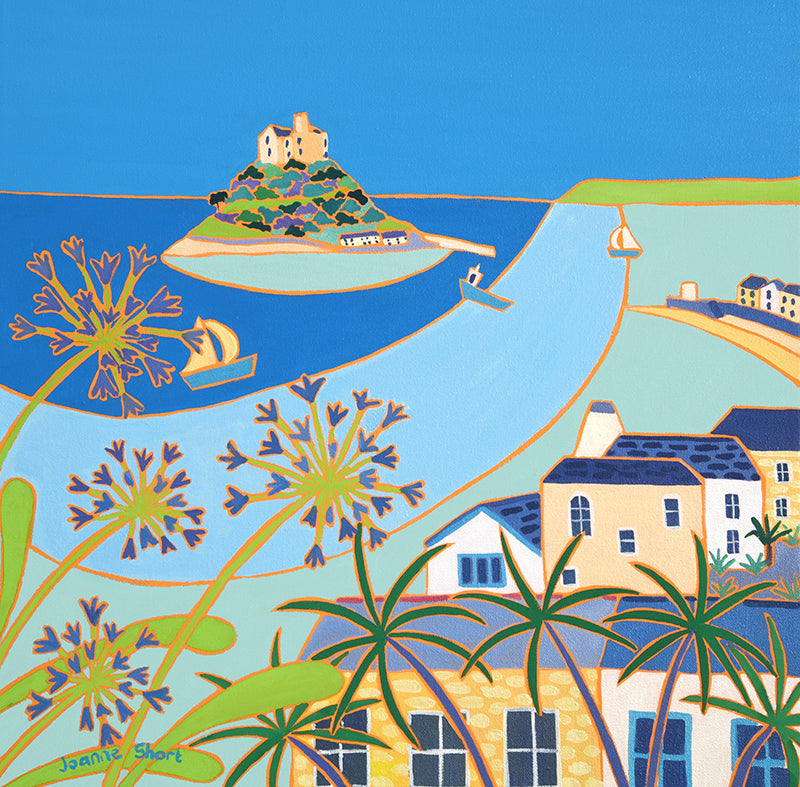 Original Painting by Joanne Short. Quiet Summer Morning, Marazion, Cornwall.