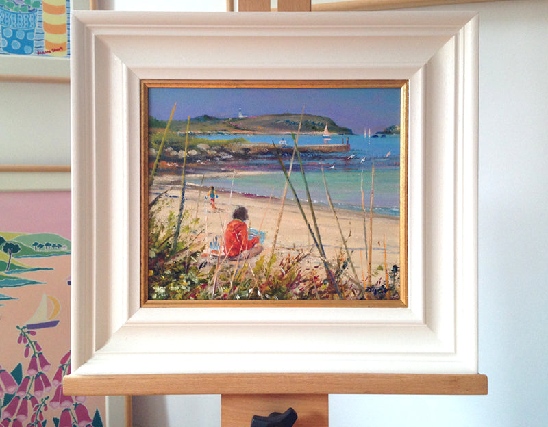 Original Painting by Ted Dyer. Capturing the View. Tresco