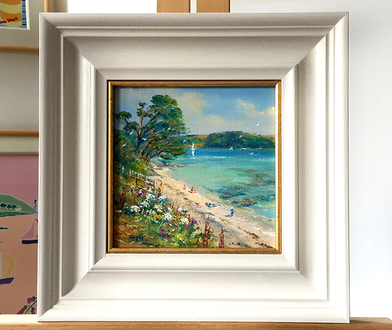 Original Painting by Ted Dyer. Summers Beach. St Mawes