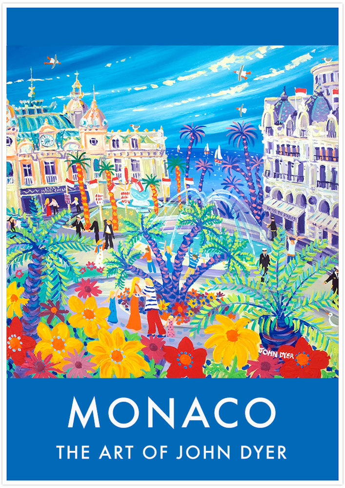 Vintage Style Travel Poster by John Dyer Casino Cuddle, Monaco, Monte-Carlo