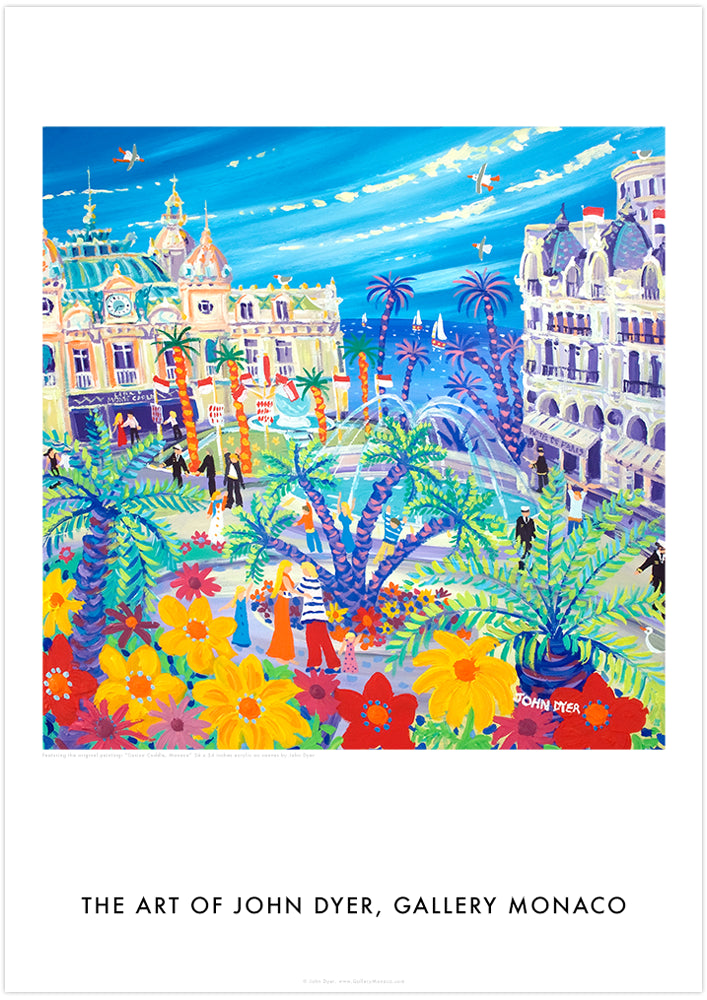 John Dyer Art Poster Print. Casino Cuddle, Monaco Art of John Dyer