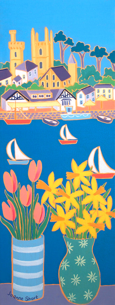 Original painting by Joanne Short. Sailing Past Fowey.