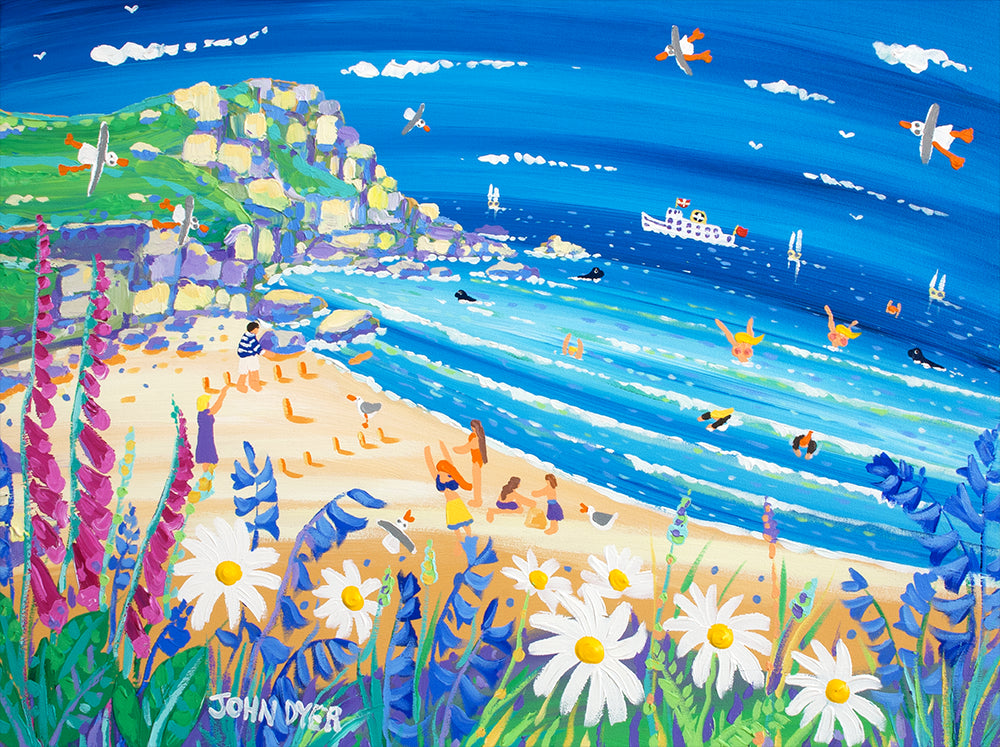 Secret Seaside Treats, Porthchapel. Signed Limited Edition print by Artist John Dyer