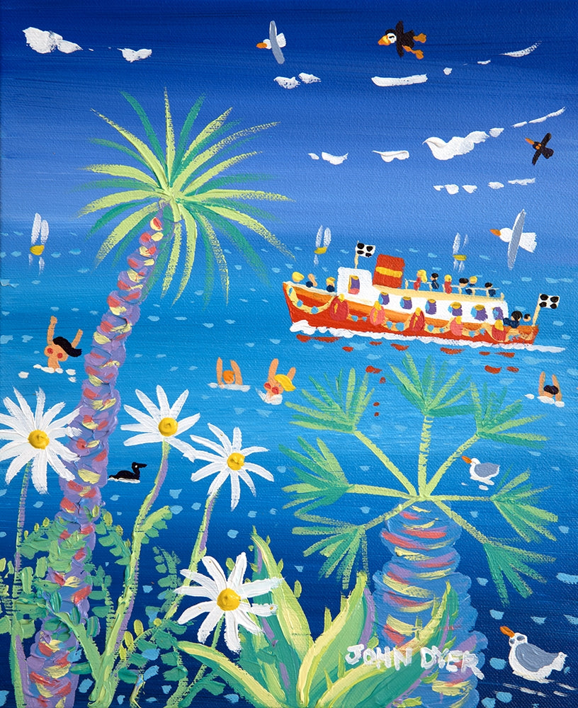 John Dyer Painting. Falmouth Bay Swimmers