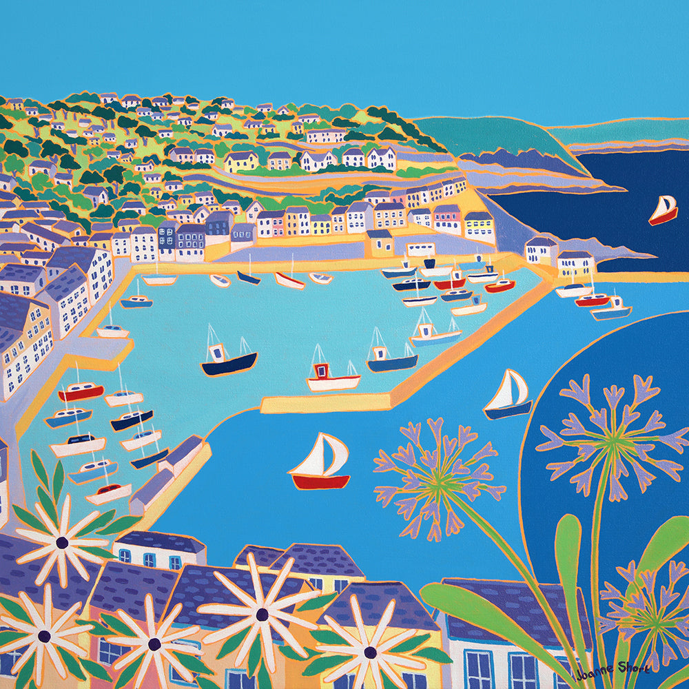 Original Painting by Joanne Short. View across the Harbour, Mevagissey