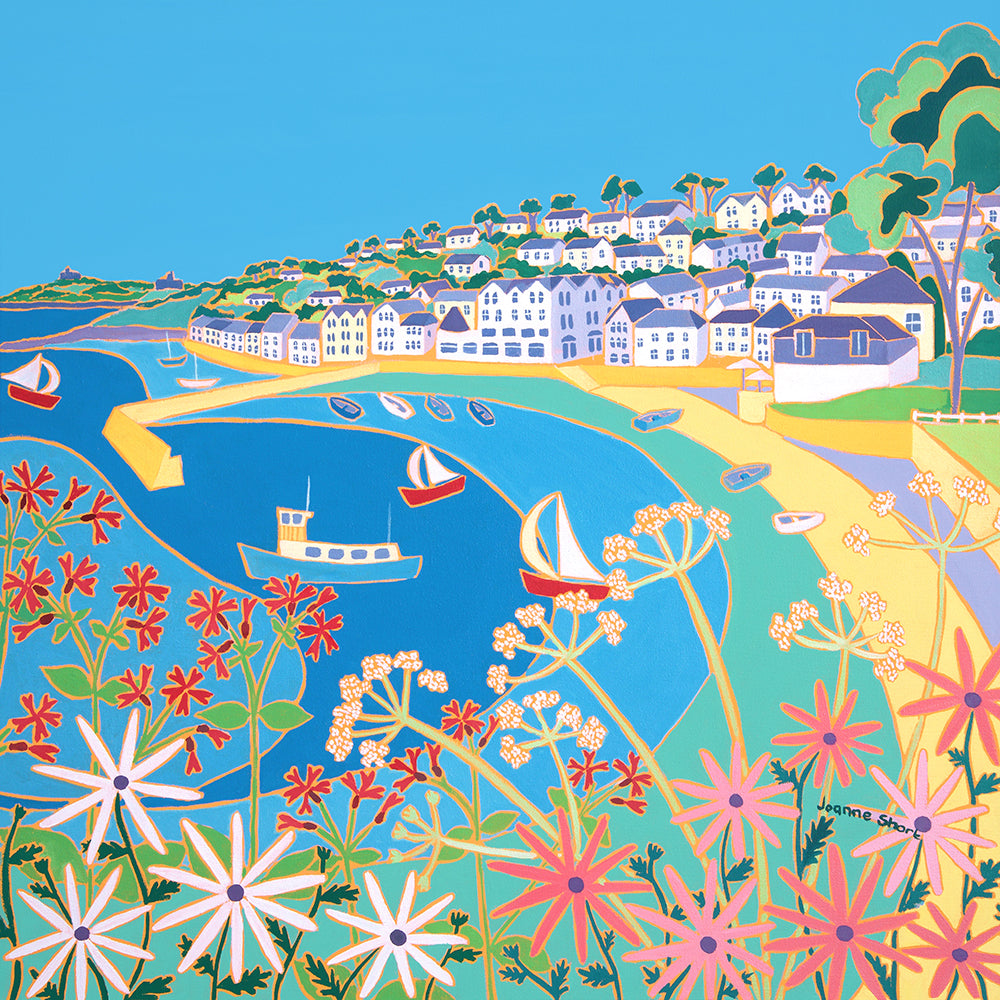 Original Painting by Joanne Short. Summer Colours, St Mawes