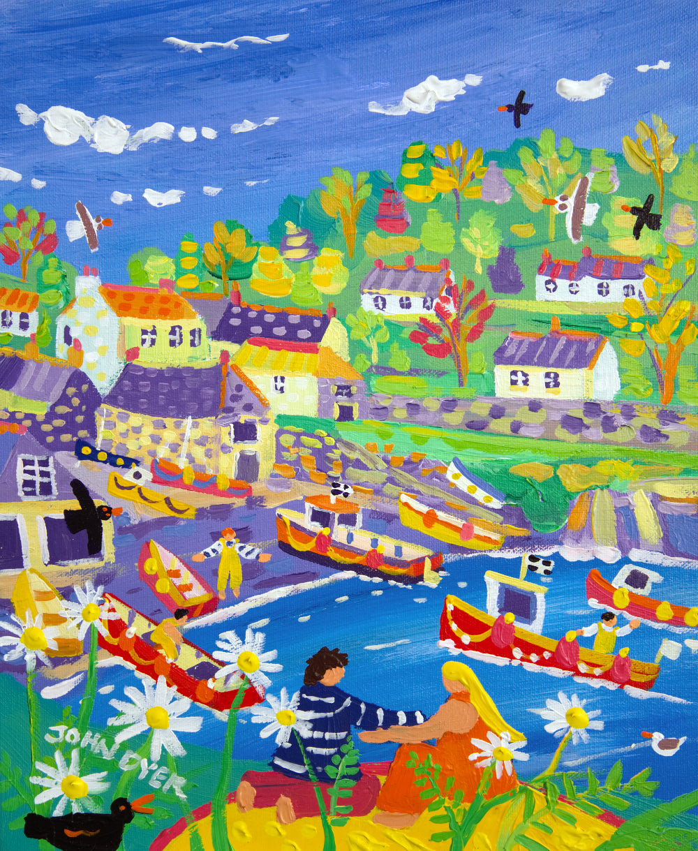 John Dyer Painting. Cadgwith Picnic