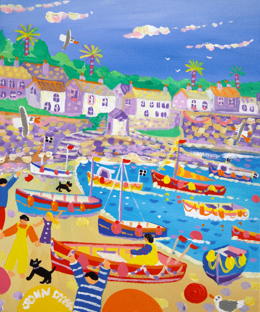 John Dyer Painting. Coverack Colours