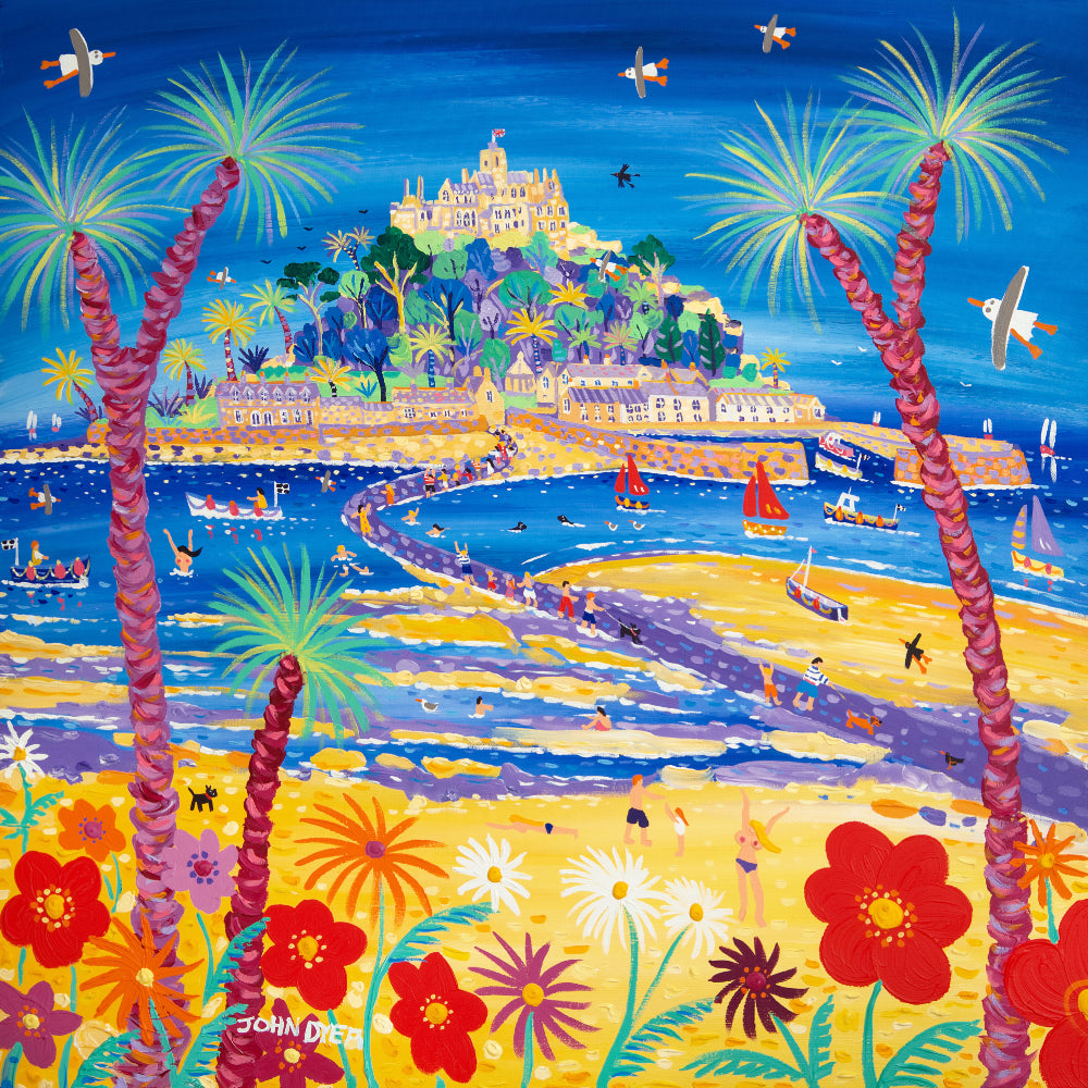 Original Painting by John Dyer. Incoming Tide, St Michael's Mount