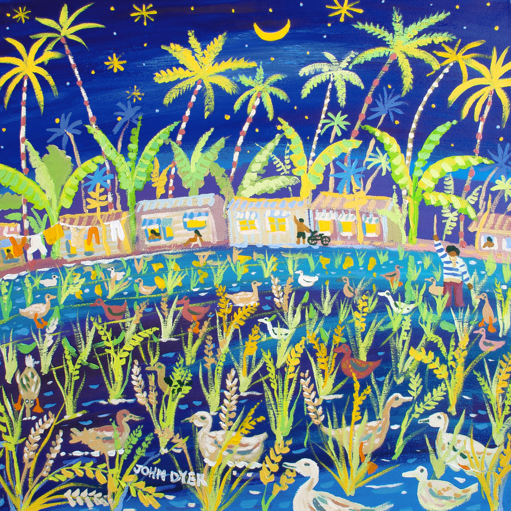 John Dyer Painting. Paddy Paddling, the Philippines