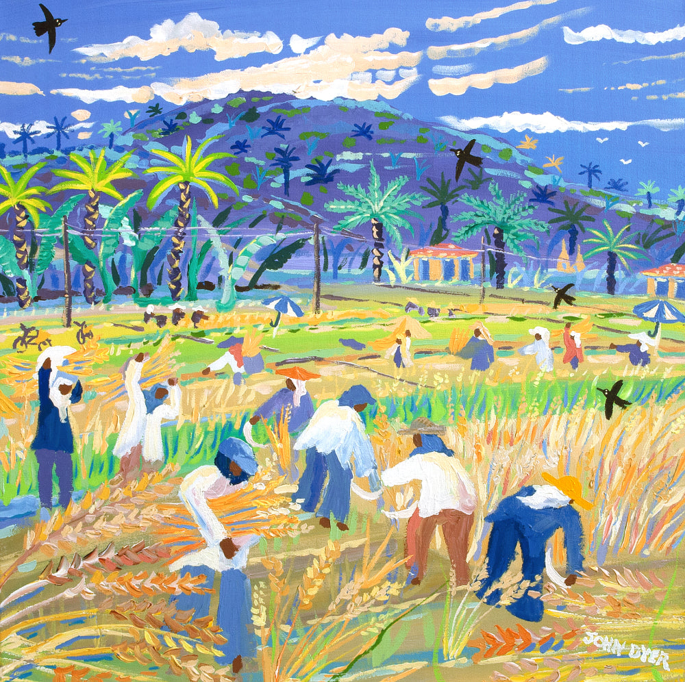 John Dyer Painting. The Rice Harvest, the Philippines