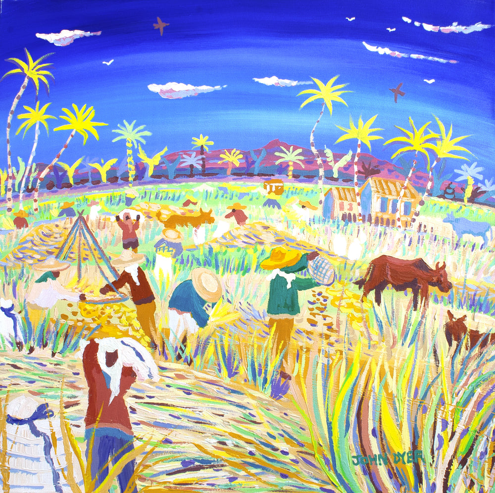 John Dyer Painting. Winnowing in the Wind, the Philippines