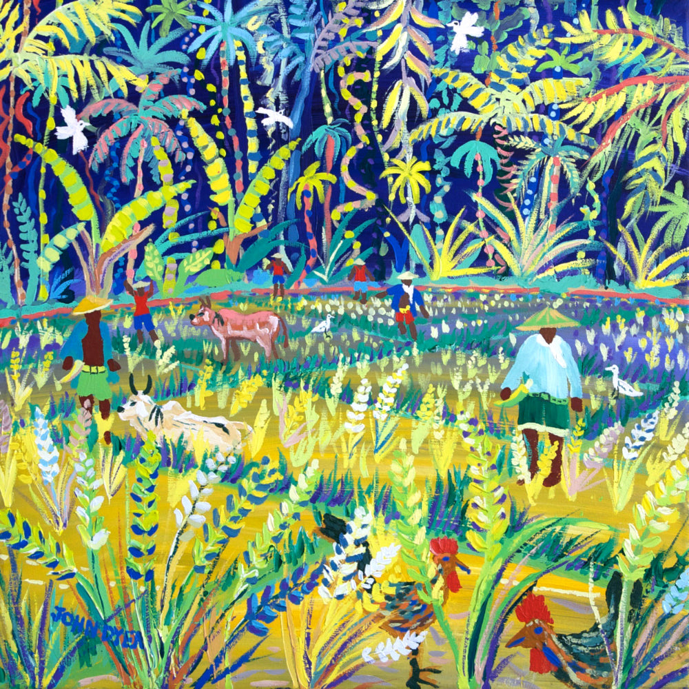 John Dyer Painting. Jungle Rice, the Philippines