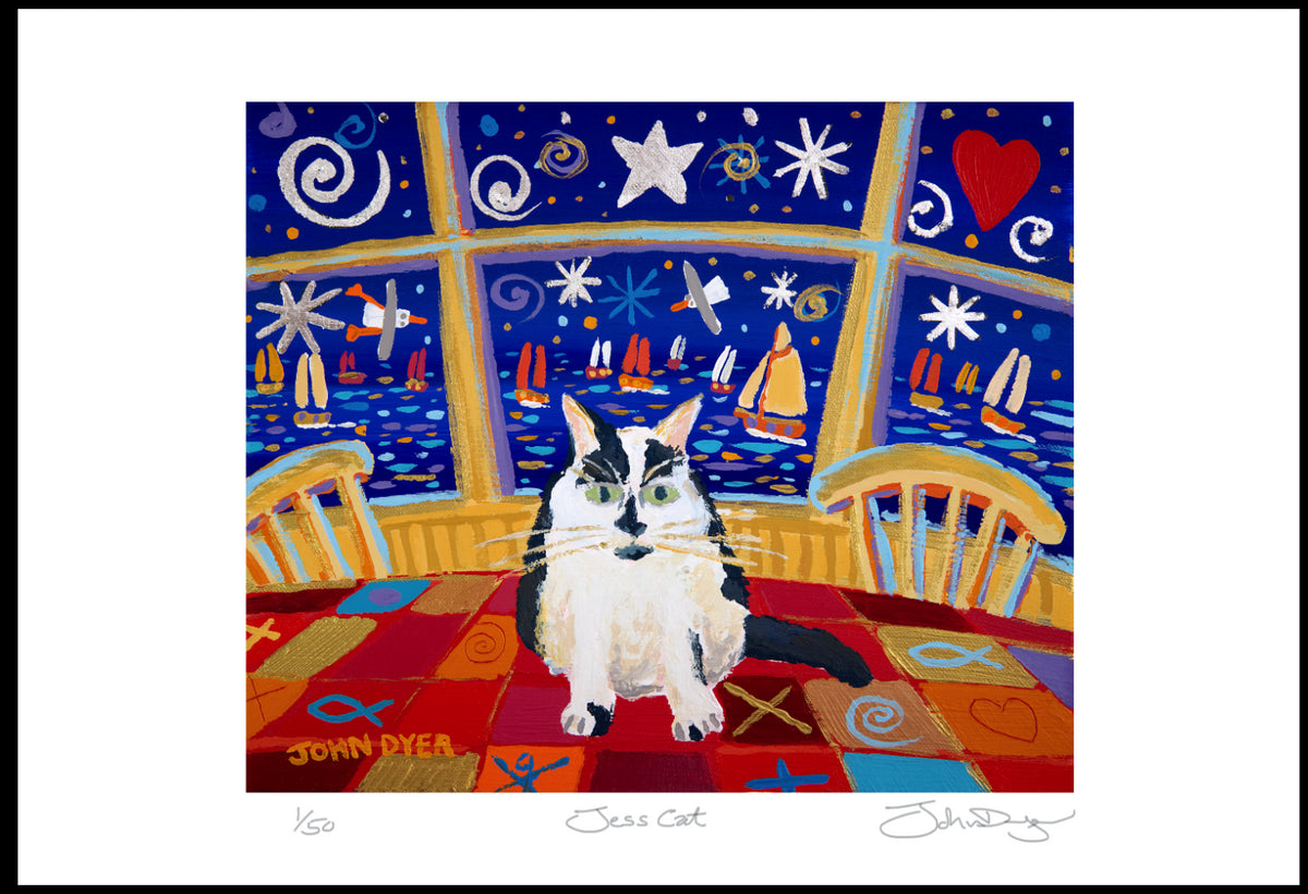 Limited Edition Print. Jess Cat. By John Dyer