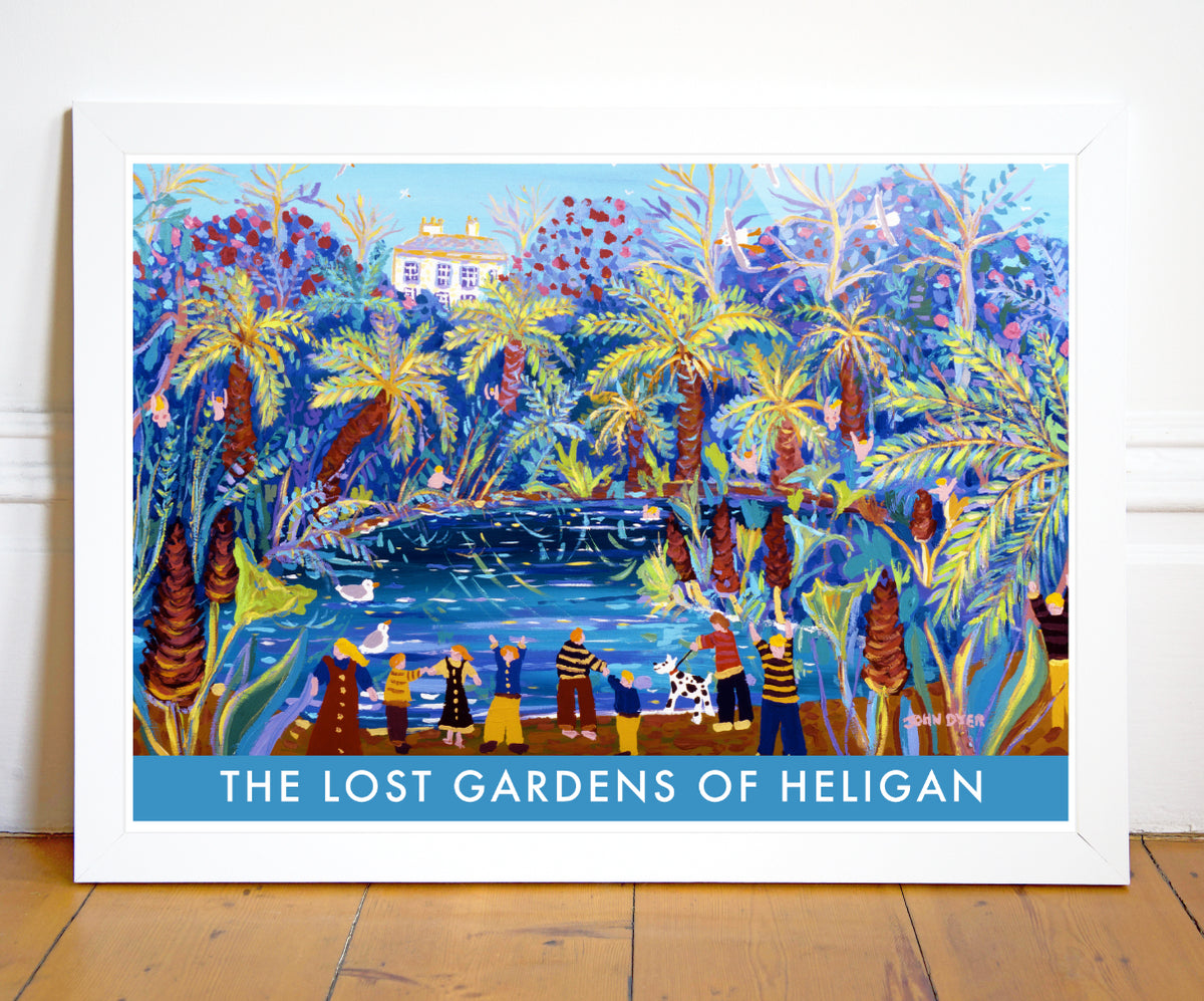 Vintage Style Travel Art Poster The Lost Gardens of Heligan. Jungle
