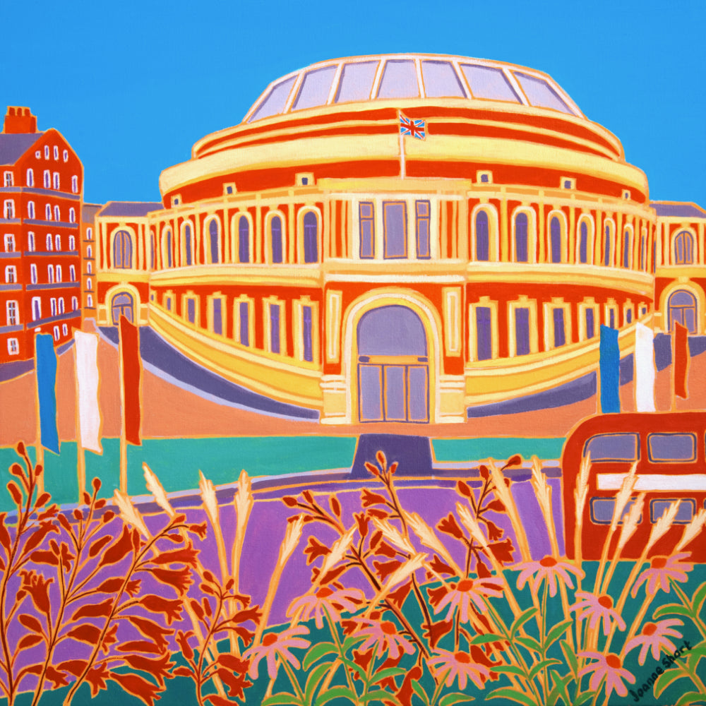 Original Painting by Joanne Short. Flowers and Flags, The Royal Albert Hall, London