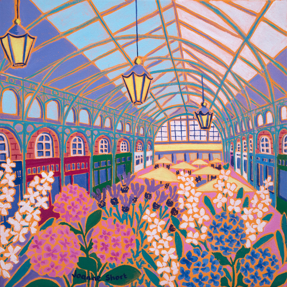Original Painting by Joanne Short. Flower Market, Covent Garden, London
