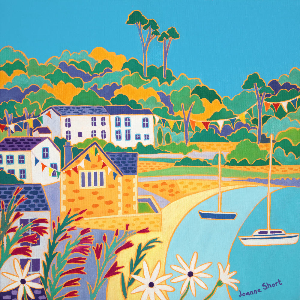 Painting by Joanne Short. Summer Bunting, Durgan
