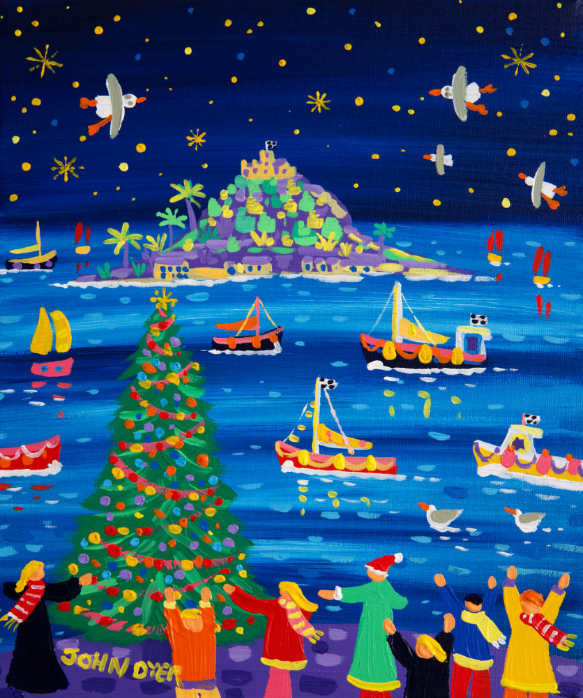 John Dyer Painting. St Michael's Mount Christmas.