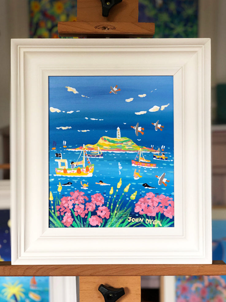John Dyer Painting. Dreamy Summer Day, Godrevy