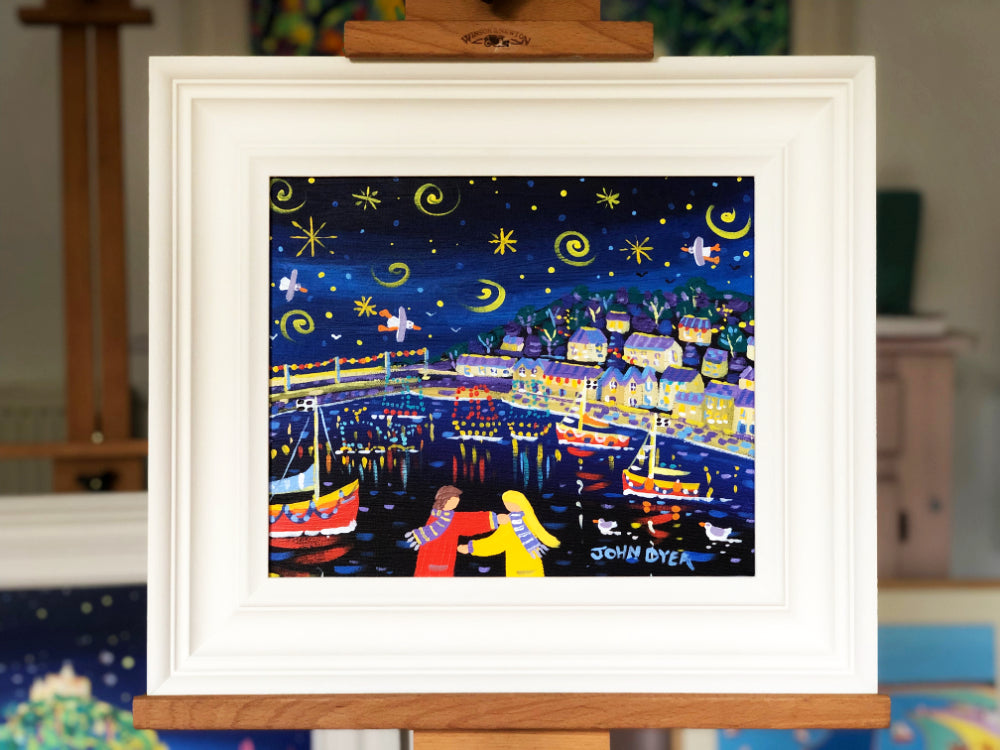John Dyer Painting. Sparkling night, Mousehole