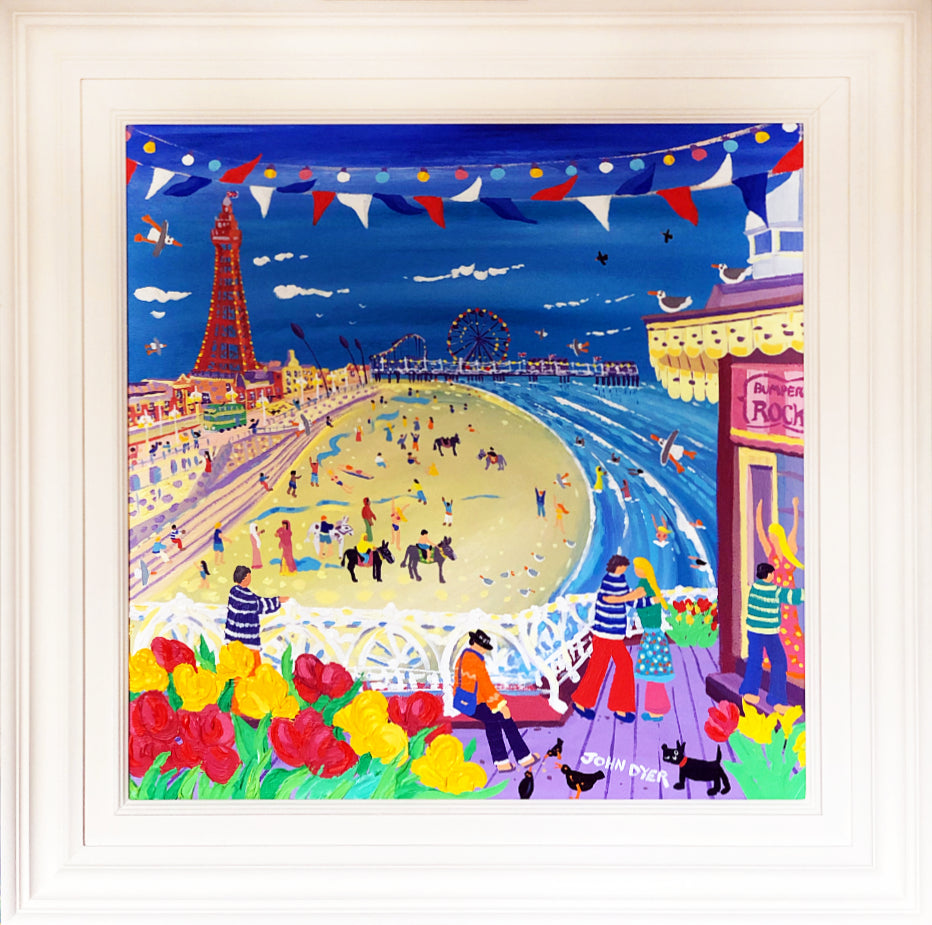 John Dyer Painting. Dancing on the Pier, Blackpool