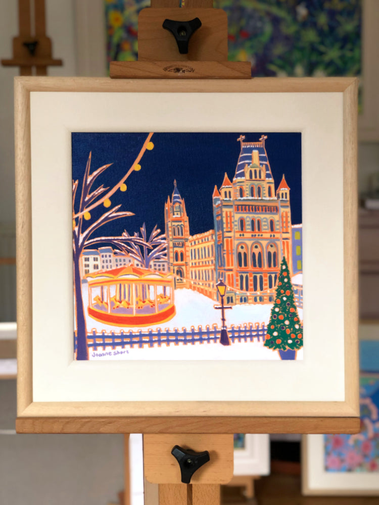 Original Painting by Joanne Short. Christmas Carousel, Natural History Museum, London