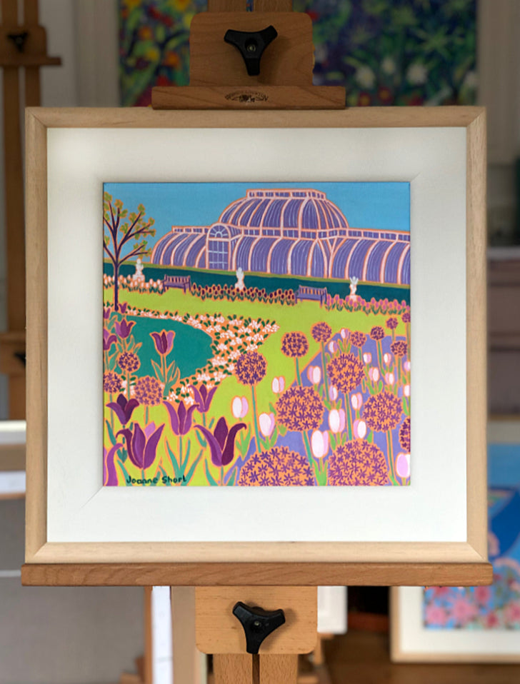 Original Painting by Joanne Short. Spring Flowers, Kew Gardens, London