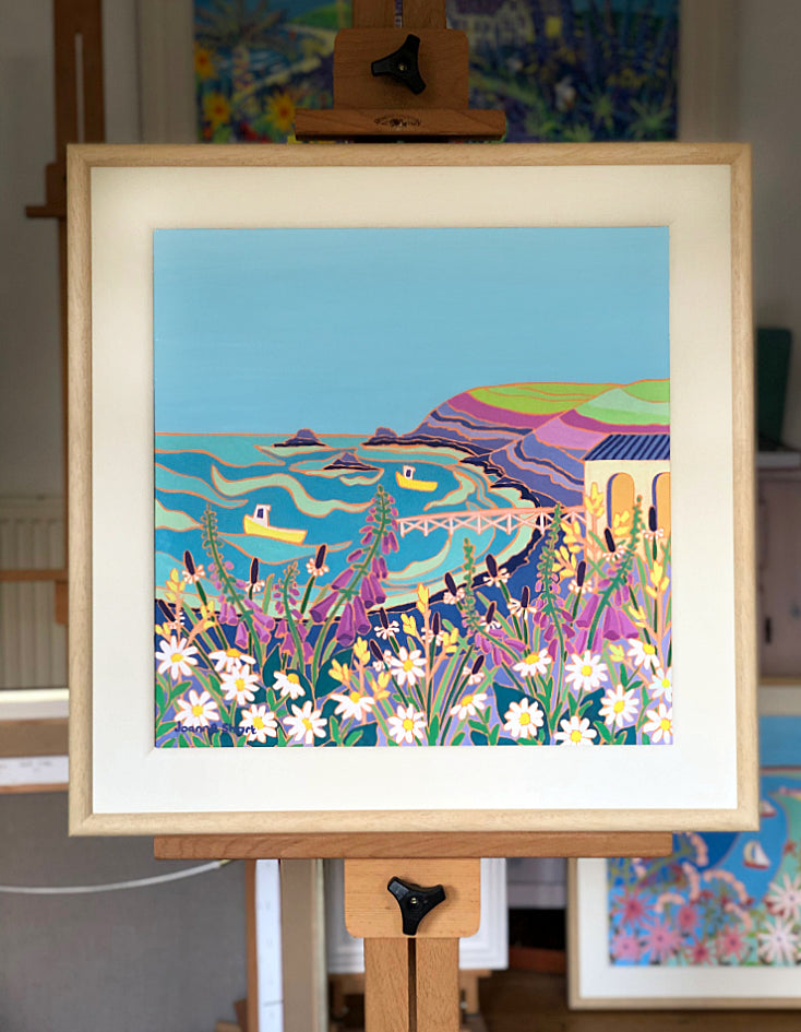 Original Painting by Joanne Short. Wild Flowers at the Lizard Point