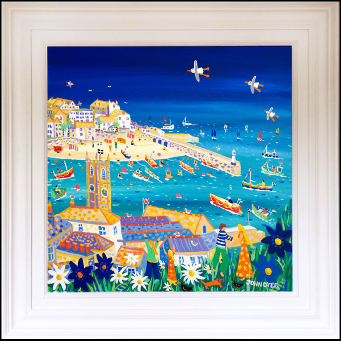 John Dyer Painting. Stunning View, St Ives