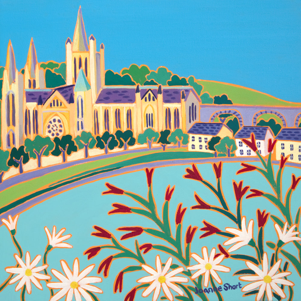 Joanne Short Painting. Whistling Jacks and Daisies by the River, Truro