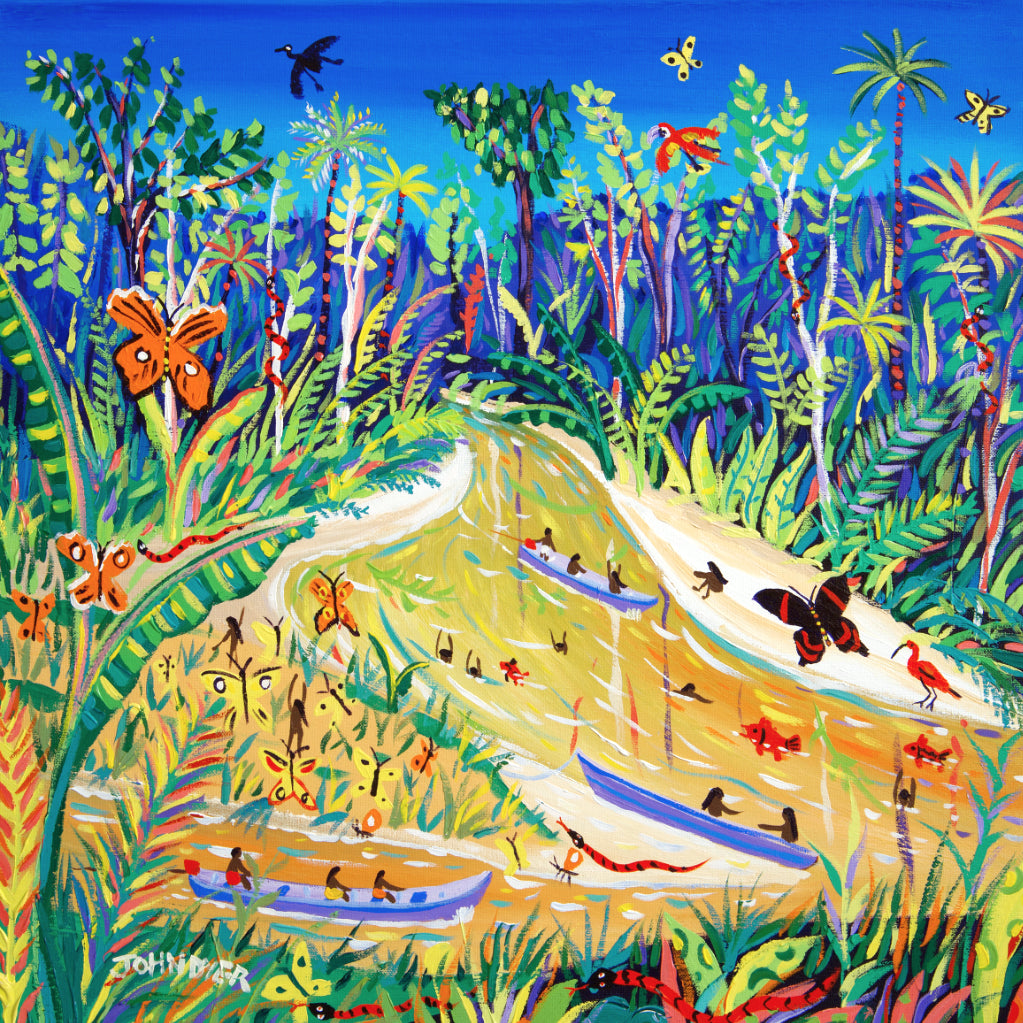 Limited Print by artist John Dyer. Spiritual Butterflies, Rio Gregório, Amazon Rainforest, Brazil