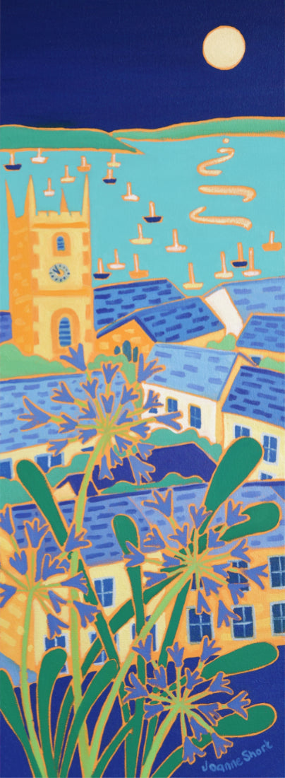 Signed Limited Edition Print by Joanne Short. Shimmering Moonlight, Falmouth