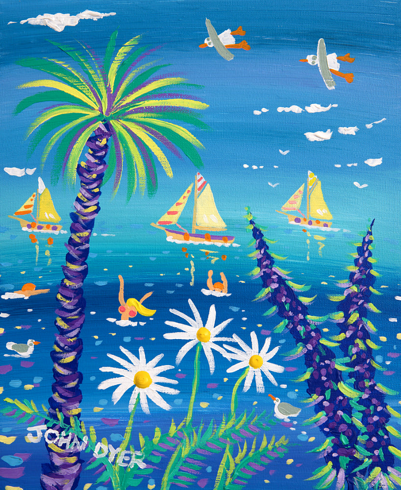 John Dyer Painting. Swooping, Sailing and Swimming