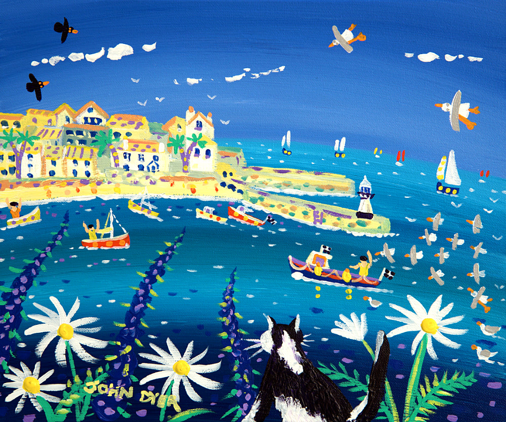John Dyer Painting. Waiting for the Catch, St Ives