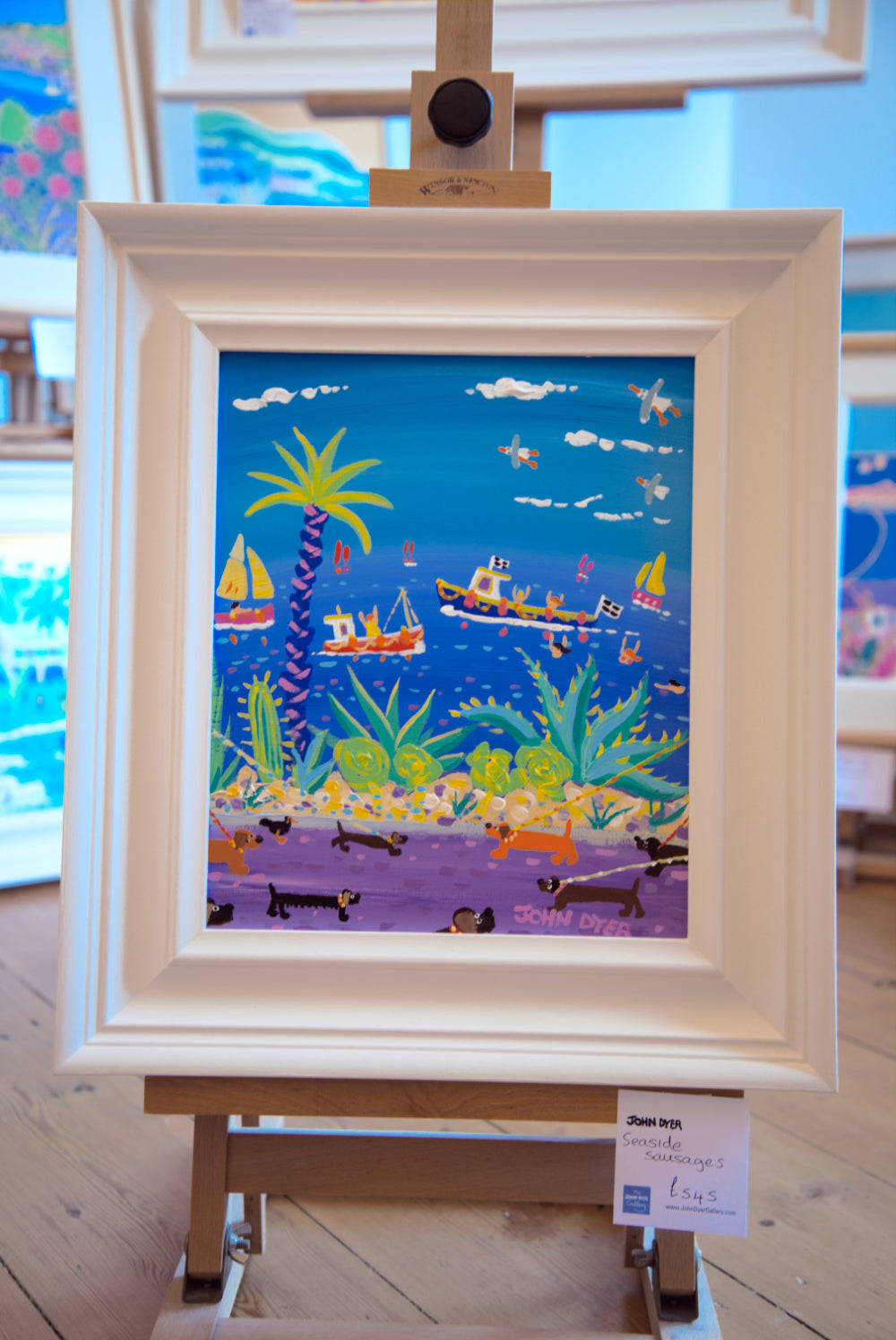 John Dyer Painting. Seaside Sausages