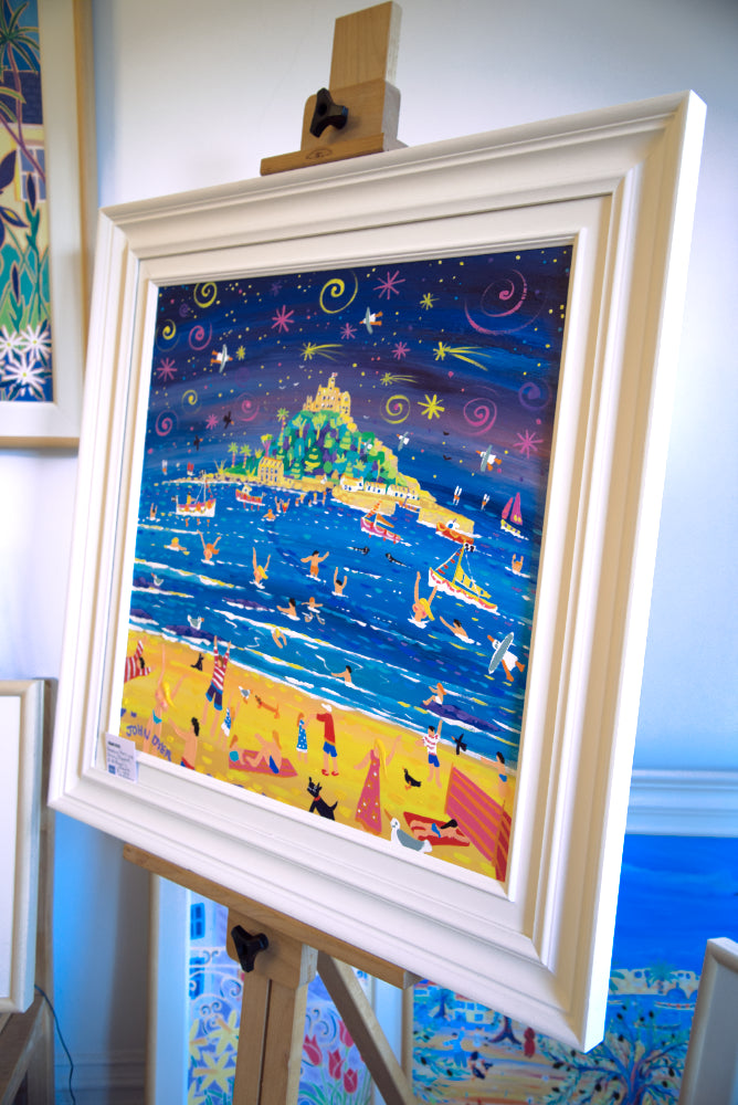 John Dyer Painting. Shooting Stars and Skinny Dippers, St Michael's Mount.