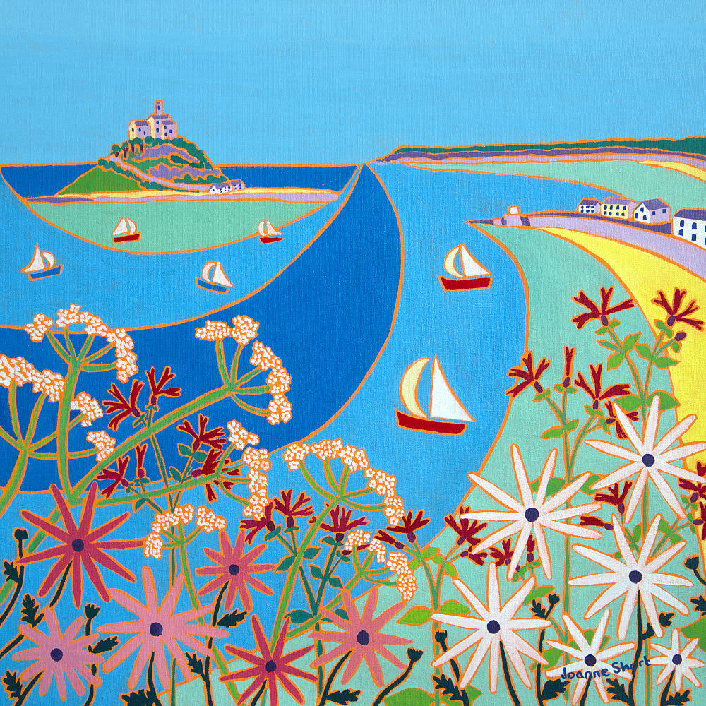 Original Painting by Joanne Short. Summer Flowers, Mount's Bay