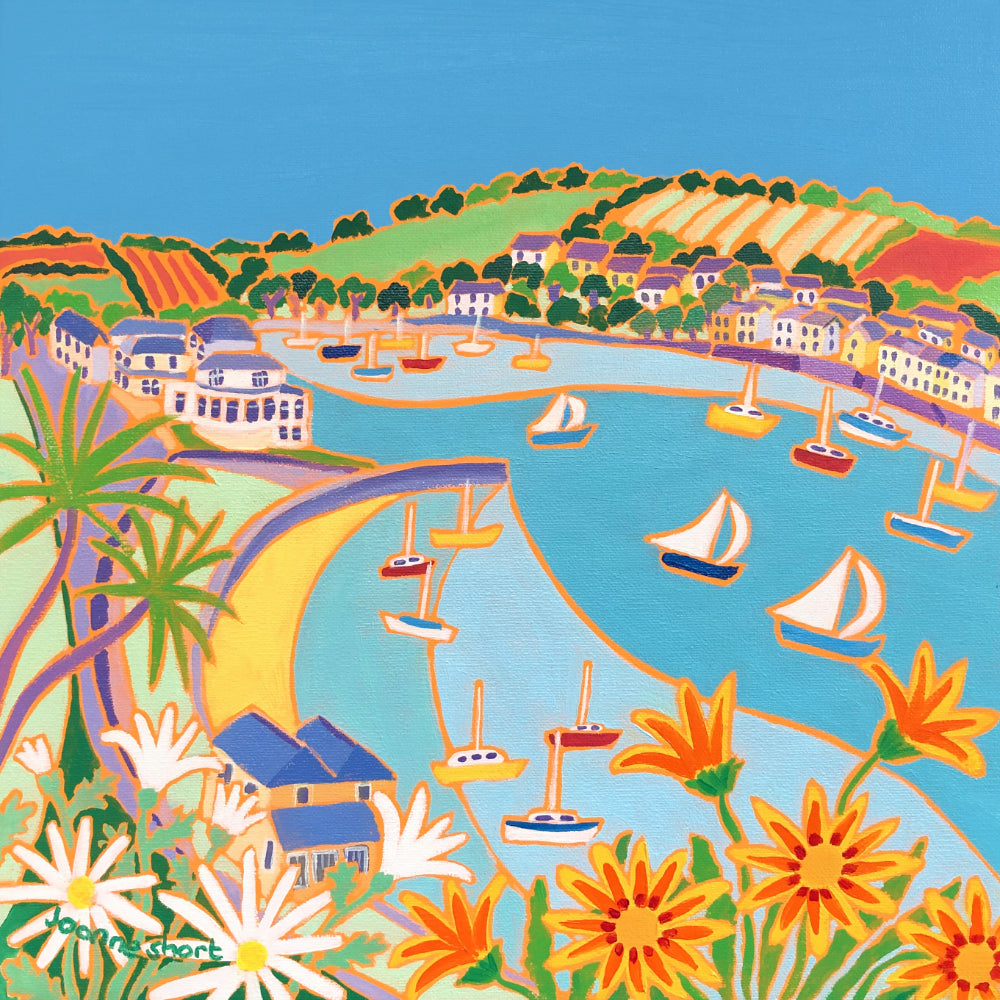 Joanne Short Painting. Looking towards Greenbank and Flushing, Falmouth