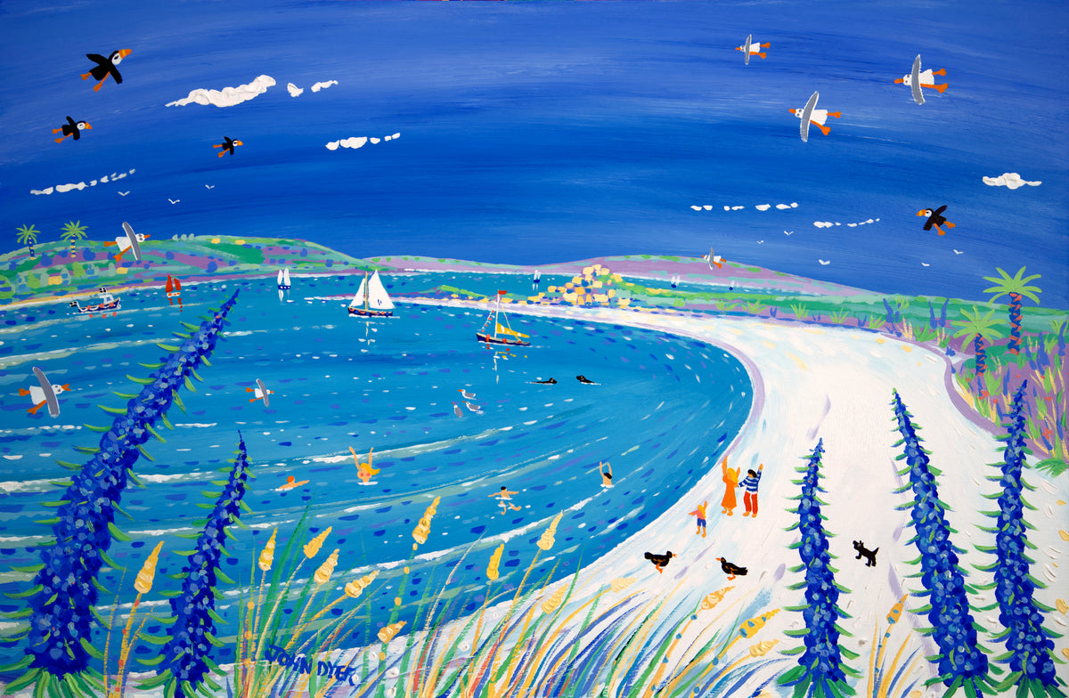 Painting by John Dyer. Island Life, Pentle Bay, Tresco