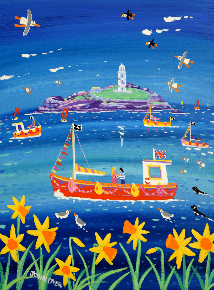 John Dyer Painting. Sea of Love, Godrevy