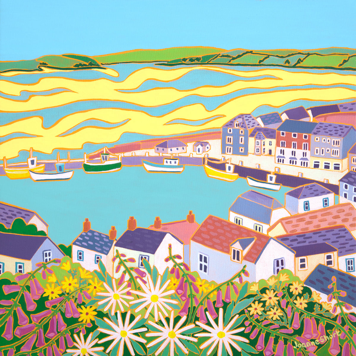 Original Painting by Joanne Short. Estuary View, Padstow.
