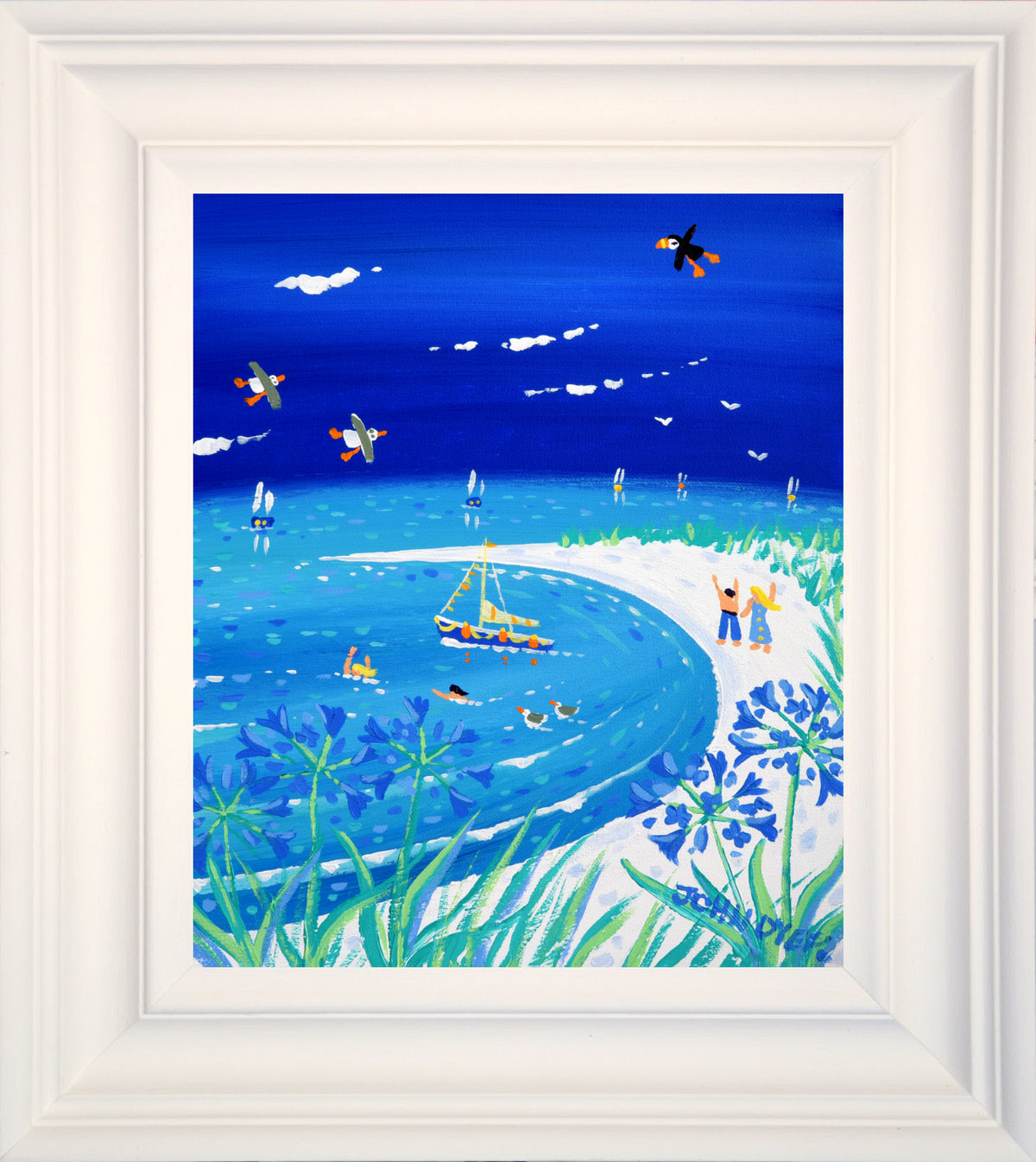 John Dyer Painting. Scilly Blue Days