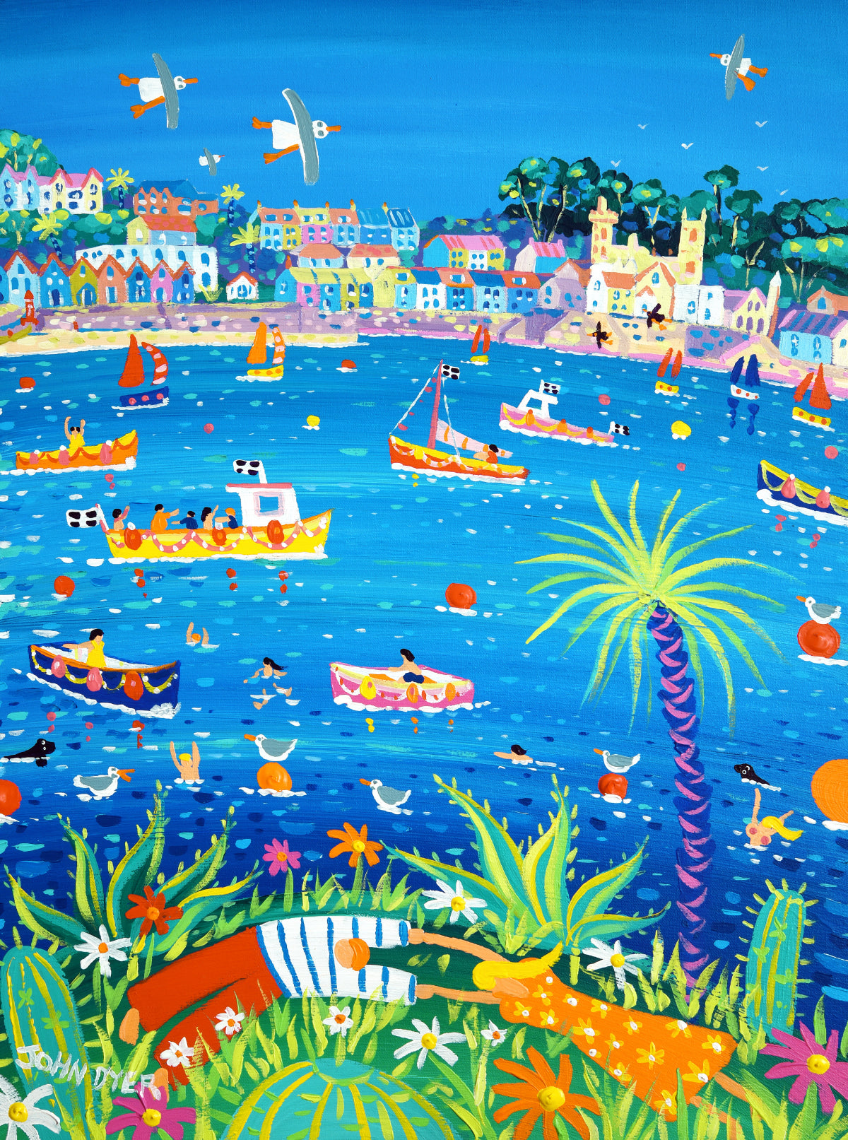 John Dyer Painting. Fowey River Lovers