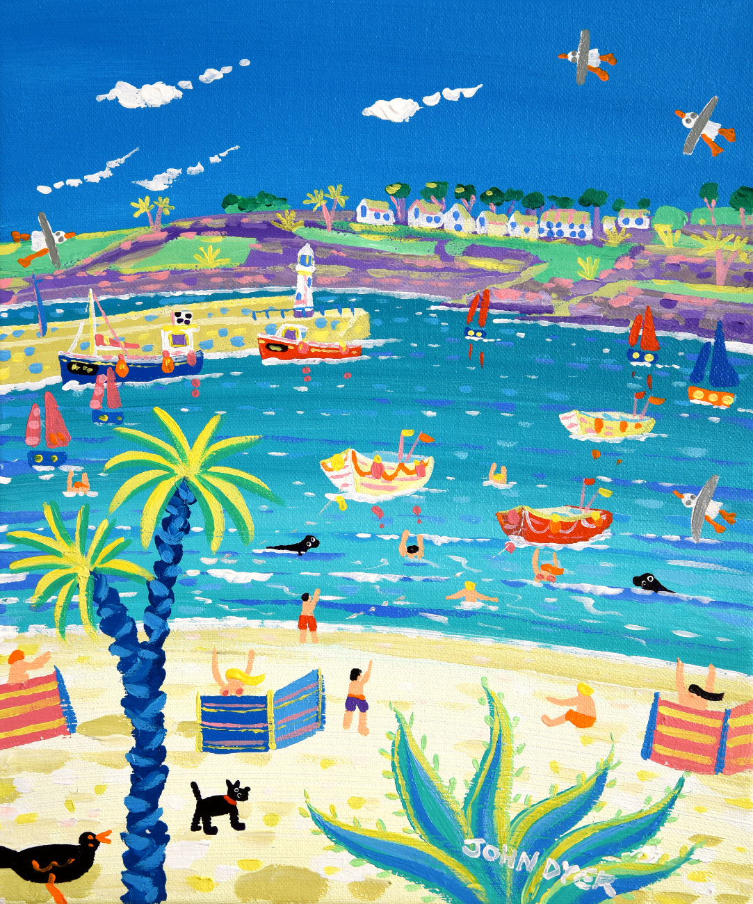 John Dyer Painting. Incoming Tide, St Ives