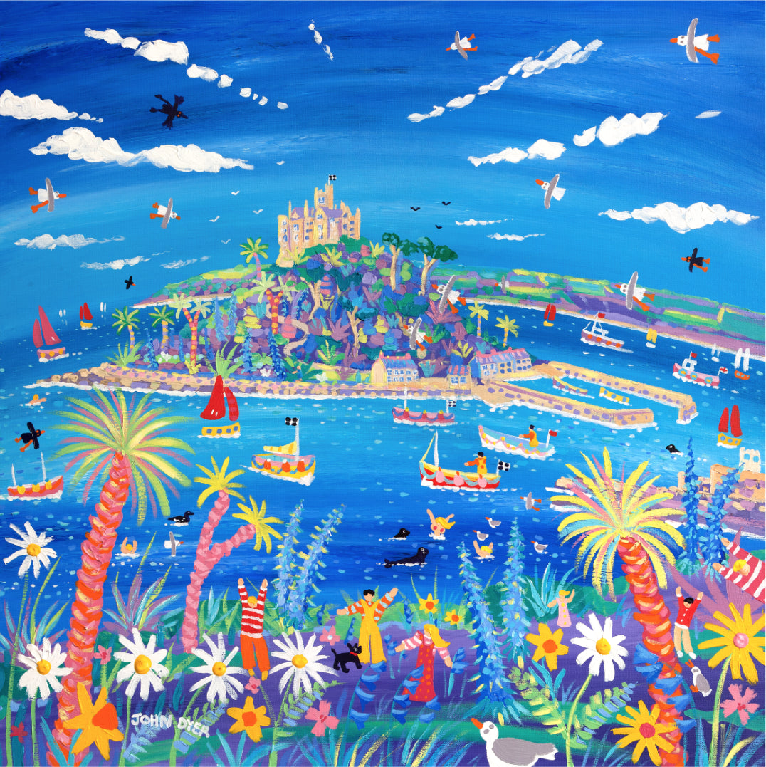 Cornish Springtime, St Michael's Mount. Limited Edition Print by John Dyer