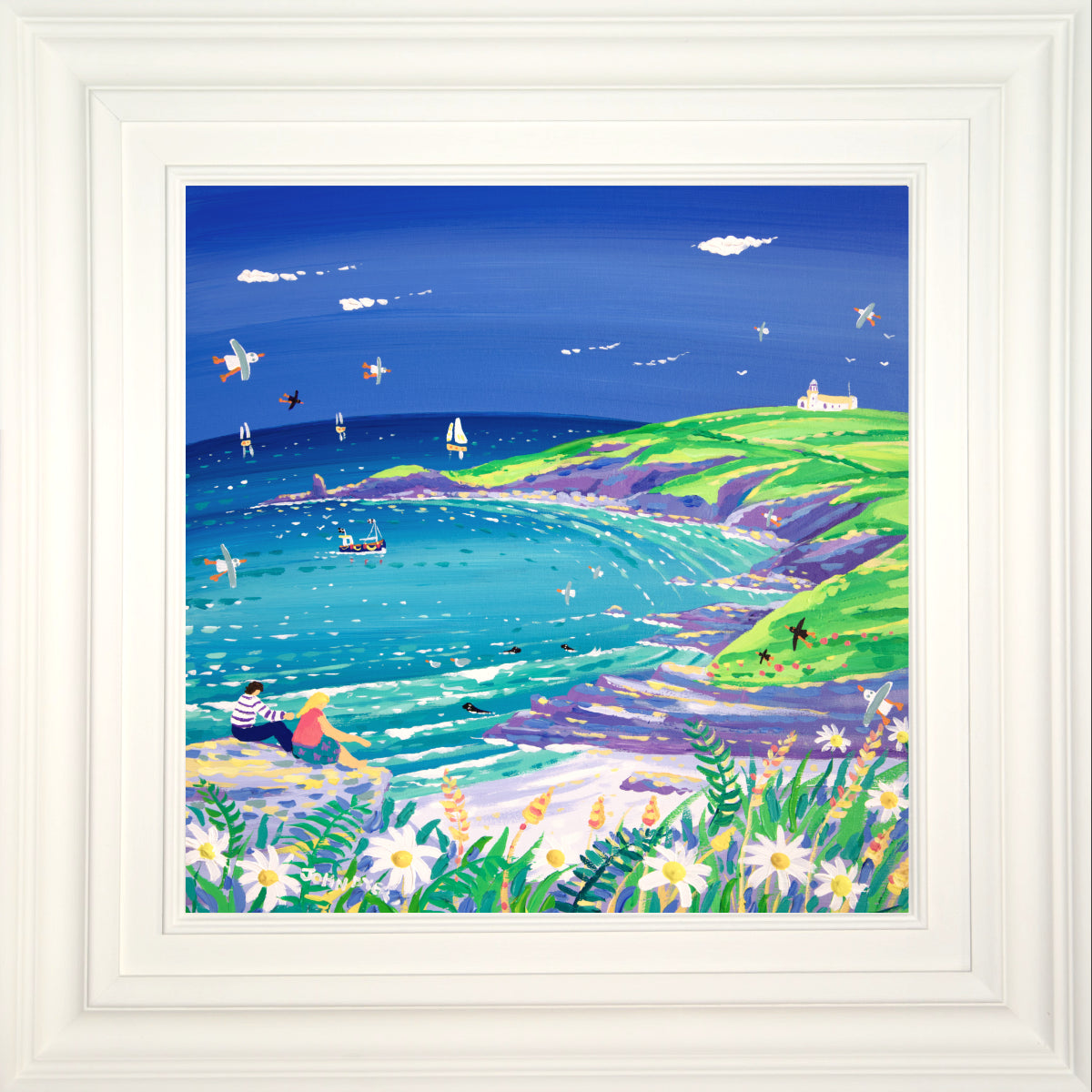 John Dyer Painting. The Sound of the Sea, Housel Bay
