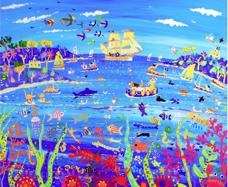 Limited Edition Print. Beagle in the Bay by John Dyer (Darwin 200 artist in residence)