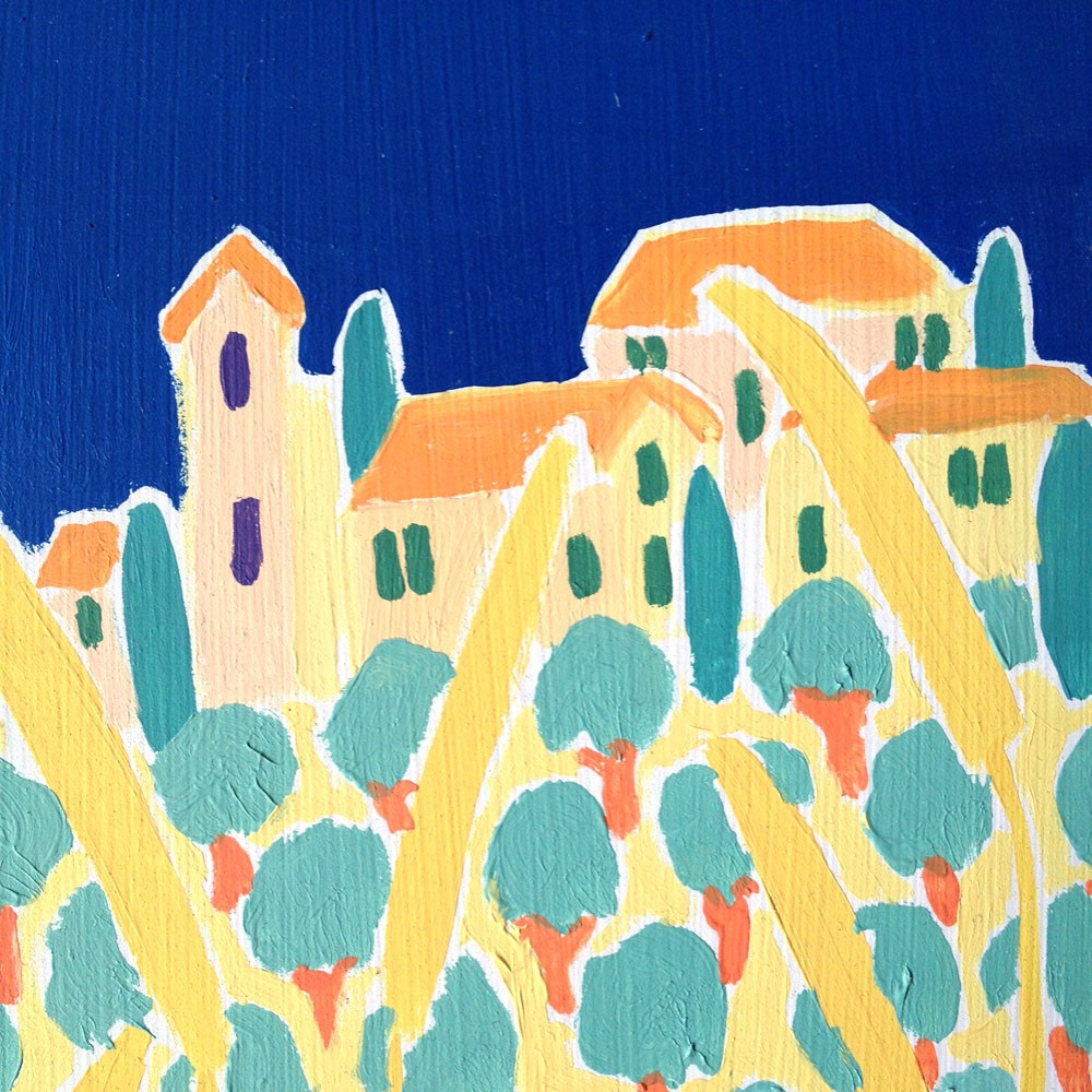 A Slice of Tuscany, Italy. Un Spicchio di Toscana. Original Painting by Joanne Short
