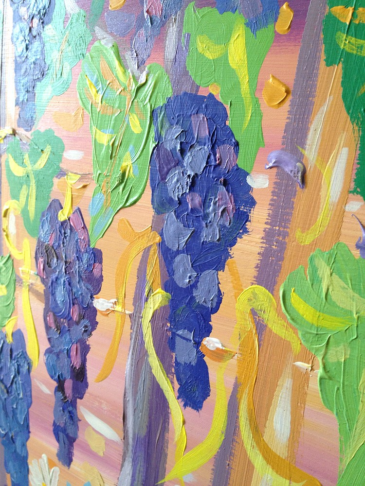Original Painting by John Dyer. Fields of Vines, Italy.